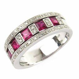 DAMIANI ダミアーニ ベルエポックルビーダイヤモンド リング 指輪 レッド K18WG(750) ホワイトゴ