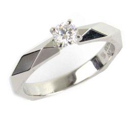 BOUCHERON ブシュロン ファセットソリテール ダイヤモンド リング 指輪 クリアー PT950 プラチナ