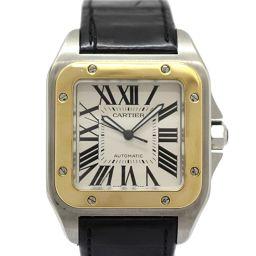 Cartier カルティエ サントス 100 LM メンズウォッチ 腕時計 W20072X7 ホワイト ステンレス