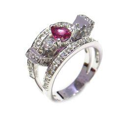 JEWELRY ジュエリー ピンクサファイア リング 指輪 ジュエリー シルバーxピンク K18WG(750) ホ