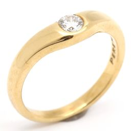 TIFFANY&CO ティファニー カーブドバンドリング 1Pダイヤモンド 指輪 クリアー K18YG(750)