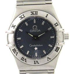 OMEGA オメガ コンステレーション ウォッチ 腕時計 ネイビー ステンレススチール(SS) 【中古】【ランクA