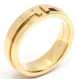 TIFFANY&CO ティファニー T TWO ナローリング 指輪 ゴールド K18YG(750) イエローゴール
