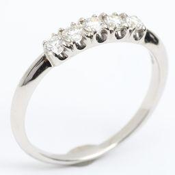TIFFANY&CO ティファニー ダイヤモンドリング 指輪 クリアー PTプラチナ x ダイヤモンド 【中古】【