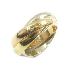Cartier カルティエ トリニティリング 指輪 ゴールドXホワイトゴールドXピンクゴールド K18YG(750