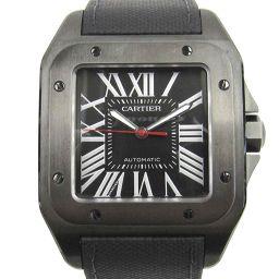 Cartier カルティエ サントス 100 カーボンウォッチLM ウォッチ 時計 WSSA0006 ブラック ス