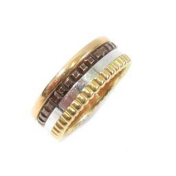 BOUCHERON ブシュロン キャトル クラシックリング 指輪 ゴールドXブラウンXシルバーXピンクゴールド K