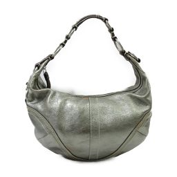 COACH Coach One Shoulder Bag 10593 Silver Leather [Used] [Rank B] ​​Ladies