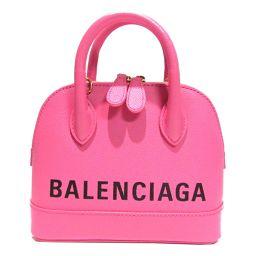 BALENCIAGA バレンシアガ ヴィルXXS 2wayショルダーバッグ 550646 ピンクxブラック レザー