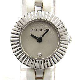 BOUCHERON ブシュロン マジョリー 1Pダイヤモンド ウォッチ 腕時計 シルバー ステンレススチール(SS