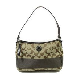 COACH Coach Mini Handbag Brown X Beige Canvas [Used] [Rank B] ​​Ladies