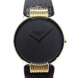 Dior クリスチャン・ディオール ブラックムーン 腕時計 ウオッチ 47.153.5 ブラックxゴールド レザー