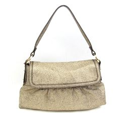 FENDI Fendi Shoulder Bag Gold Leather [Pre] [Rank B] ​​Women