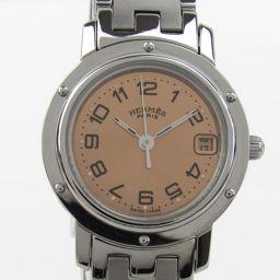 HERMES エルメス クリッパー ウォッチ 腕時計 CL4.210 シルバー ステンレススチール(SS) 【中古