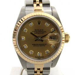 ROLEX ロレックス デイトジャスト 10Pダイヤモンド ウォッチ 腕時計 79173G Y番 ゴールド K18