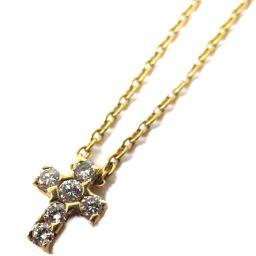 Van Cleef & Arpels ヴァンクリーフ&アーペル クロスダイヤモンド ネックレス ゴールド K18Y