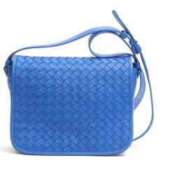 BOTTEGA VENETA Bottega Veneta shoulder bag blue leather [pre-owned] [rank A] lady