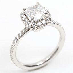HARRY WINSTON Harry Winston Diamond Ring Ring Clear PT950 Platinum x