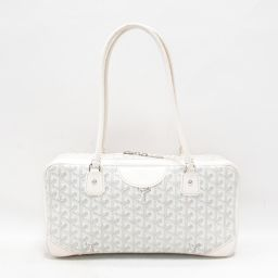 GOYARD Gojar Saint Martin shoulder bag white coated canvas x leather [pre] [rank]