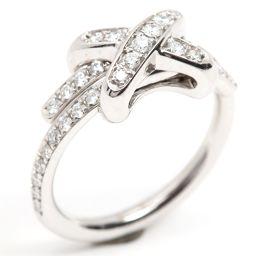 CHAUMET ショーメ ジュ・ドゥ・リアンダイヤモンド リング 指輪 クリアー K18WG(750) ホワイトゴ