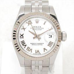 ROLEX ロレックス デイトジャスト 腕時計 ウォッチ 179174 ホワイト ステンレススチール(SS) xK