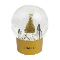 CHANEL シャネル クリスマス スノードーム ノベルティ オブジェ ゴールドxホワイト ガラスxプラスチック