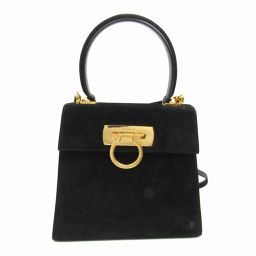 Salvatore Ferragamo Salvatore Ferragamo Gancini 2 way shoulder bag black