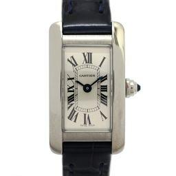 Cartier カルティエ タンクアメリカンミニ レディースウォッチ 腕時計 CRWSTA0032 シルバー×ネイ