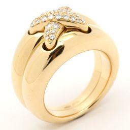CHAUMET ショーメ リアンダイヤモンド リング 指輪 クリアー K18YG(750) イエローゴールド  x