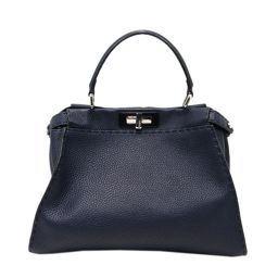 FENDI Feldy Celeria Peekaboo 2way Shoulder Bag Navy Leather [Pre] [Rank A] Re