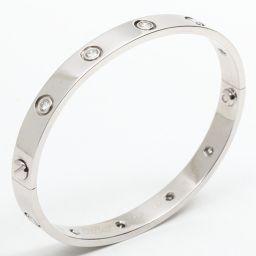 Cartier カルティエ ラブブレス フルダイヤモンド ブレスレット クリアー K18WG(750) ホワイトゴ
