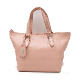 FENDI Fendi Tote Bag Pink Leather [Pre] [Rank B] ​​Women