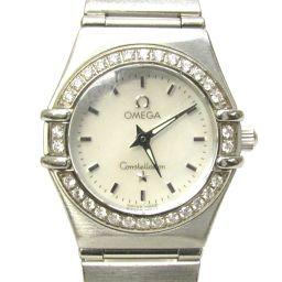 OMEGA Omega Constellation Bezel Diamond Watch 14.66.71 Silver Stainless Steel