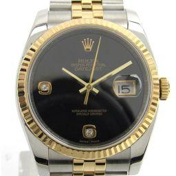 ROLEX ロレックス デイトジャスト 2Pダイヤモンド ウォッチ 腕時計 116233  ゴールド K18YG(