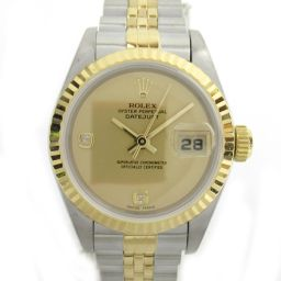 ROLEX Rolex Datejust 2P diamond watch wristwatch 69173G S number gold K18YG (7