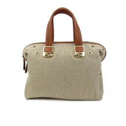 FENDI Fendi 2way shoulder bag beige x brown fabric x leather [pre] [Rank A]