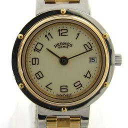 HERMES エルメス クリッパー ウォッチ 腕時計 ゴールド ステンレススチール(SS) xGP(ゴールドメッキ