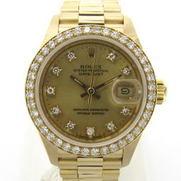 ROLEX Rolex Datejust Bezel Diamond / 10P Diamond Watch Watch 69138G E number Gold