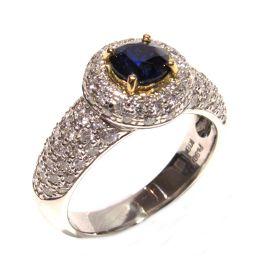 JEWELRY ジュエリー ブルーサファイア ダイヤモンド リング 指輪 ブルーxクリアーxシルバー PT900