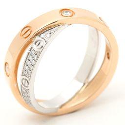 Cartier カルティエ ビーラブパヴェファイヤリング 4Pダイヤモンド 指輪 クリアー K18PG(750)