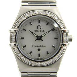 OMEGA オメガ コンステレーション ミニ ダイヤベゼル ウォッチ 腕時計 1466.71 シルバー ステンレス