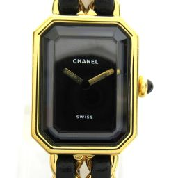 CHANEL Chanel Premiere S Watch Watch H0001 Gold Leather Belt xGP (Gold
