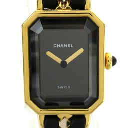 CHANEL Chanel Premiere M Watch Watch H0001 Gold Leather Belt xGP (Gold