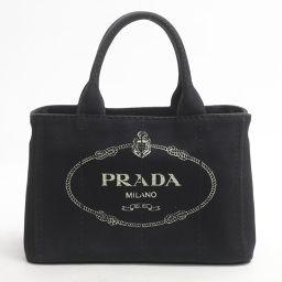 PRADA プラダ カナパトートバッグ 1BG439 ブラック NERO キャンバス  CANAPA 【中古】【ラ