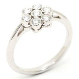 TIFFANY&CO ティファニー ガーデンフラワーダイヤモンド リング 指輪 クリアー PT950 プラチナ