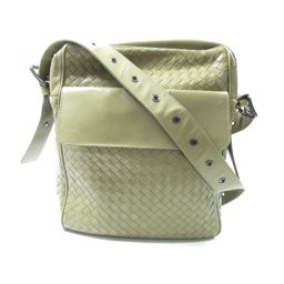 BOTTEGA VENETA Bottega Veneta Intrecciato shoulder bag diagonally hanging khaki leather [