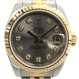 ROLEX Rolex Datejust 10P Diamond Watch Watch 179173G F number Gold K1