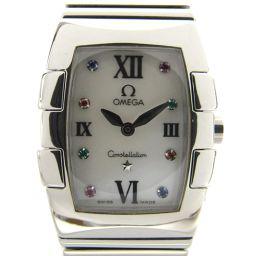 OMEGA オメガ コンステレーション ミニ クアドレラ 8Pカラーストーン ウォッチ 腕時計 1584.79 シ