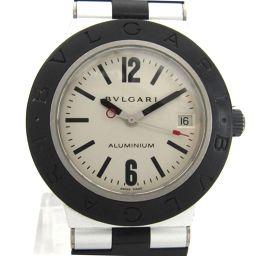 BVLGARI ブルガリ アルミニウム ウォッチ 腕時計 AL38TA ブラック アルミxラバーベルト 【中古】【
