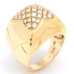 BVLGARI ブルガリ ピラミデ リング 指輪 クリアー K18YG(750) イエローゴールド  x ダイヤモ